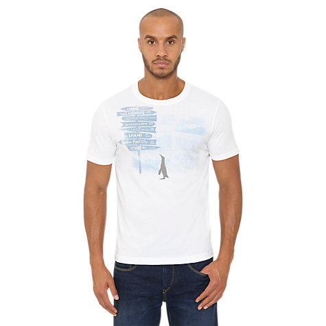 Buy Original Penguin The Travel T-Shirt, White Online at johnlewis.com
