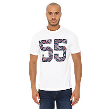 Buy Original Penguin 55 Paisley Print Short Sleeve T-Shirt, Bright White Online at johnlewis.com
