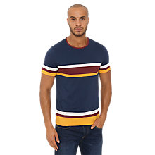 Buy Original Penguin Striped T-Shirt, Dress Blues Online at johnlewis.com