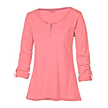 Buy Fat Face Henley T-Shirt, Pink Online at johnlewis.com