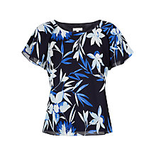 Buy Jacques Vert Dark Tropical Print Blouse, Multi Navy Online at johnlewis.com