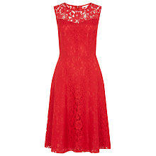 Buy Kaliko Sleeveless Lace Skater Dress, Poppy Online at johnlewis.com