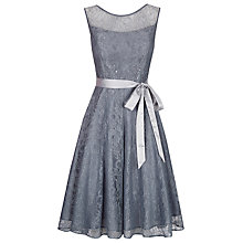 Buy Kaliko Bead and Lace Prom Dress, Graphite Online at johnlewis.com