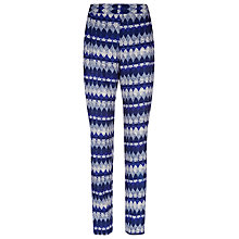 Buy Kaliko Diamond Print Slouchy Trousers, Multi Navy Online at johnlewis.com