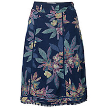 Buy Fat Face Claire Tropical Floral Skirt, Navy Online at johnlewis.com