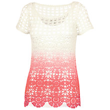 Buy Fat Face Dip Dye Sadie Crochet Jumper, Corabell Online at johnlewis.com