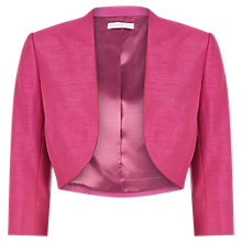 Buy Jacques Vert Piped Bolero, Hot Pink Online at johnlewis.com