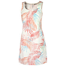 Buy Fat Face Delia Palm Leaf Dress, Ivory Online at johnlewis.com