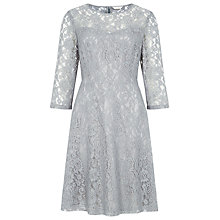Buy Kaliko Lace Skater Dress, Silver Online at johnlewis.com