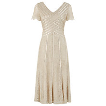 Buy Jaques Vert Lace Banded Dress, Malt Online at johnlewis.com