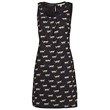 Buy Fat Face Delia Big Cat Dress, Phantom Online at johnlewis.com