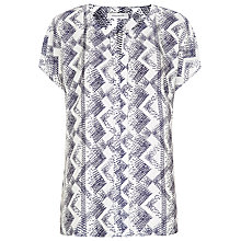 Buy Windsmoor Como Print Top, Ivory Online at johnlewis.com