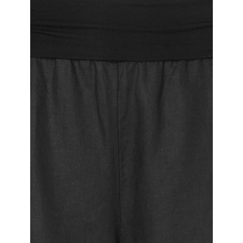 Buy Phase Eight Jersey Waist Linen Trousers, Black Online at johnlewis.com