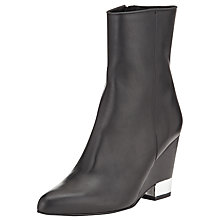 Buy Kin by John Lewis Thirty Two Leather Wedge Heeled Ankle Boots Online at johnlewis.com