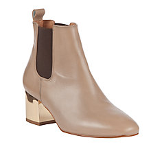 Buy COLLECTION by John Lewis Ferrie Leather Ankle Boots, Taupe Online at johnlewis.com