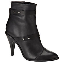 Buy Kin by John Lewis Forty One Leather Mid Stiletto Heel Ankle Boots Online at johnlewis.com