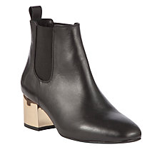 Buy COLLECTION by John Lewis Ferrie Leather Ankle Boots, Black Online at johnlewis.com