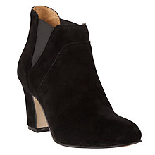 Buy John Lewis Calgary Suede Ankle Boots, Black Online at johnlewis.com