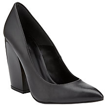 Buy Kin by John Lewis Thirty Leather Stiletto Shoes, Black Online at johnlewis.com