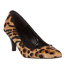 Buy Collection WEEKEND by John Lewis Fleur Stiletto Court Shoes, Leopard Online at johnlewis.com