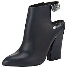 Buy Kin by John Lewis Thirty Eight Leather Ankle Boots, Navy Online at johnlewis.com