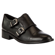 Buy COLLECTION by John Lewis Quick Buckle Leather Shoes, Black Online at johnlewis.com