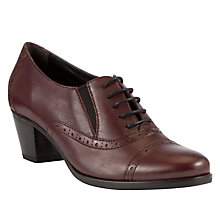 Buy John Lewis Tulsa Leather Block Heel Brogue Shoes Online at johnlewis.com