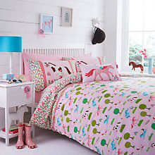 Buy Hello Kitty by Designers Guild Pony Pastures Duvet Cover and Pillowcase Set Online at johnlewis.com