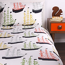 Buy Orla Kiely Boats Duvet Cover and Pillowcase Set Online at johnlewis.com