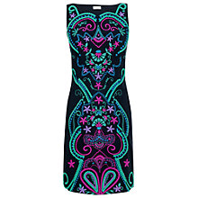 Buy Phase Eight Sheridan Embellished Shift Dress, Black/Multi Online at johnlewis.com