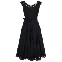 Buy Phase Eight Jolene Battenberg Trim Fit And Flare Dress, Black Online at johnlewis.com