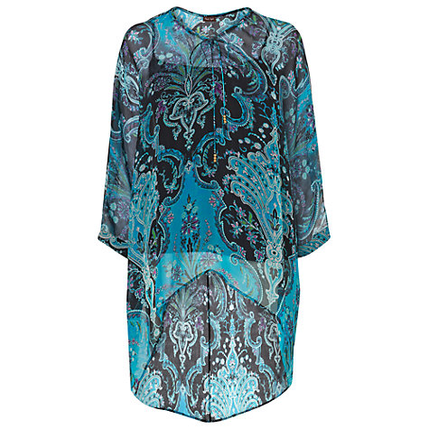 Buy Phase Eight Scarlet Silk Kaftan, Turquoise Online at johnlewis.com