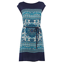 Buy Oasis Scarf Print Tunic Dress, Blue Multi Online at johnlewis.com