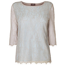 Buy Phase Eight Roisin Lace Knit Jumper, Pale Blue Online at johnlewis.com