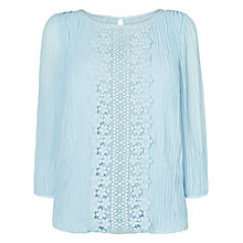 Buy Phase Eight Juliet Pleated Blouse, Pale Blue Online at johnlewis.com