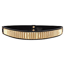 Buy Warehouse Metal Bars Waist Belt, Black Online at johnlewis.com