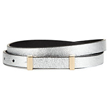 Buy Whistles Skinny Waisted Belt, Silver Online at johnlewis.com