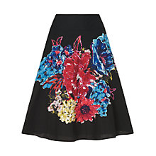 Buy Phase Eight Bridget Embellished Skirt, Black/Multi Online at johnlewis.com