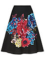 Phase Eight Bridget Embellished Skirt, Black/Multi