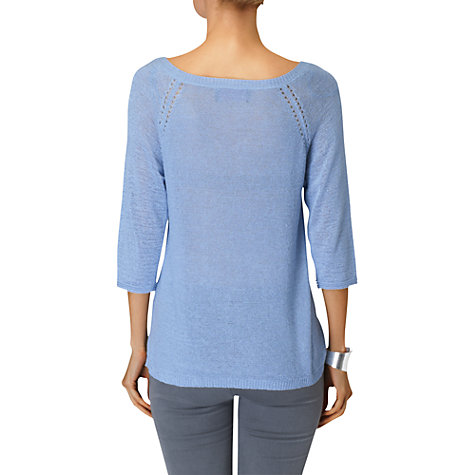 Buy Phase Eight Tatiana Tape Yarn Jumper, Bluebell Online at johnlewis.com