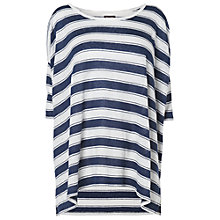 Buy Phase Eight Shauna Linen Stripe Top, Navy/Ivory Online at johnlewis.com