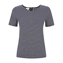 Buy NW3 by Hobbs Farah T-Shirt, Navy Ivory Online at johnlewis.com