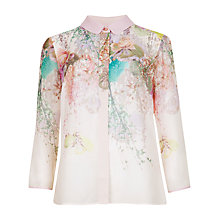 Buy Ted Baker Wispy Meadow Print Shirt, Light Pink Online at johnlewis.com