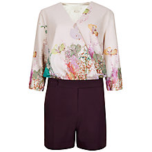 Buy Ted Baker Wispy Meadow Print Playsuit, Light Pink Online at johnlewis.com