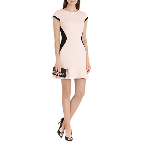 Buy Ted Baker Sports Mesh Contrast Dress, Peach Online at johnlewis.com