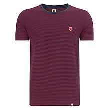 Buy Pretty Green Feeder Cotton T-Shirt, Red Online at johnlewis.com