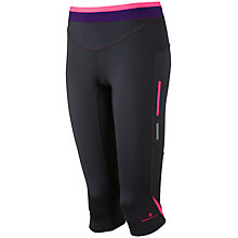Buy Ronhill Vizion Contour Capri 3/4 Running Tights, Black/Fluorescent Pink Online at johnlewis.com