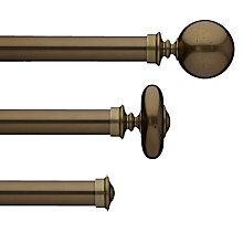 Buy John Lewis Brass Toned Curtain Pole Range, Dia.30mm Online at johnlewis.com