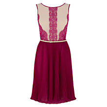 Buy Oasis Lucy Lace Midi Dress, Multi/Purple Online at johnlewis.com