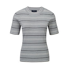 Buy Viyella Petite Stripe Jumper, Navy Online at johnlewis.com